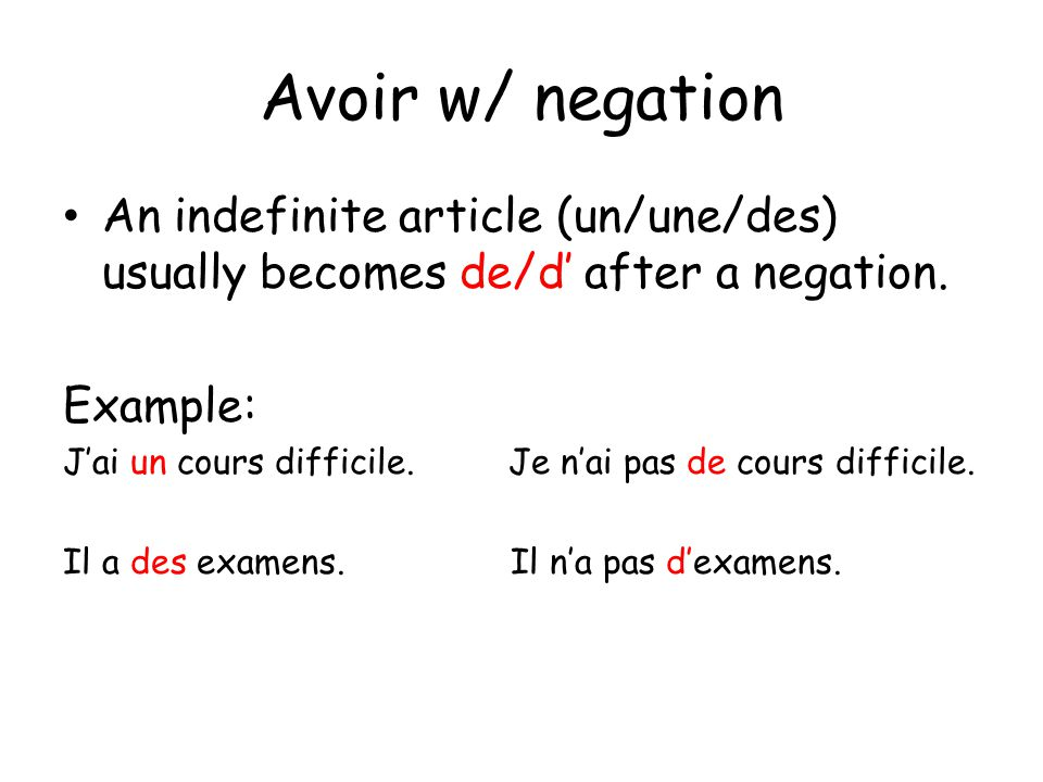 Avoir is used in certain expressions where English generally uses to be or to feel.