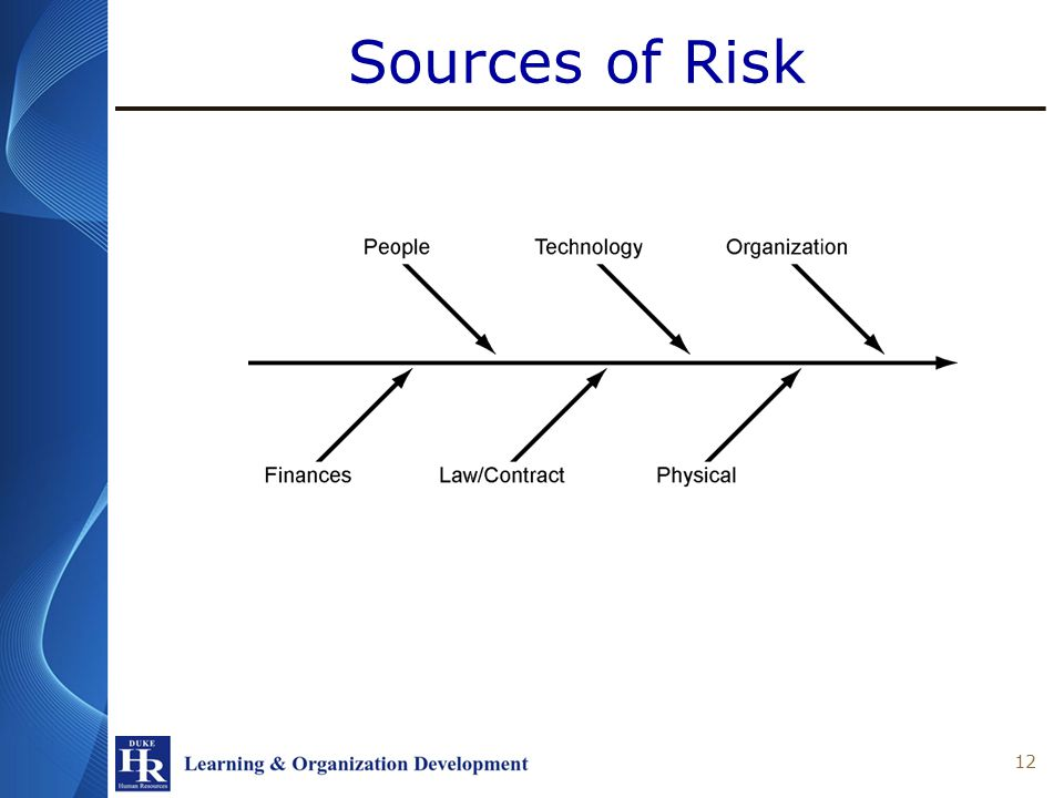 Sources of Risk 12