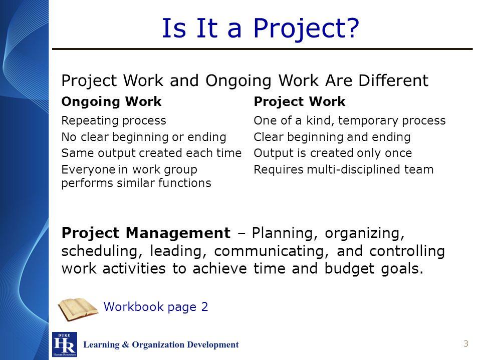 Project Management Fundamentals Element K Version: Apr-12 Kim Andrews Senior Practice Partner L&OD 613-7612 Kim.Andrews@duke.edu