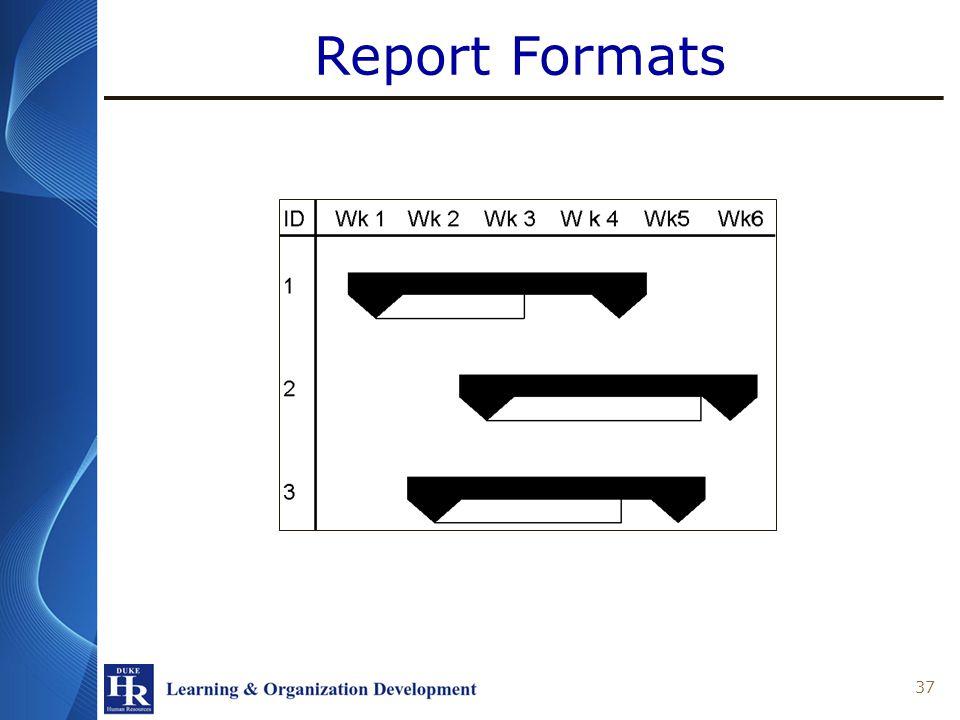 Report Formats 37