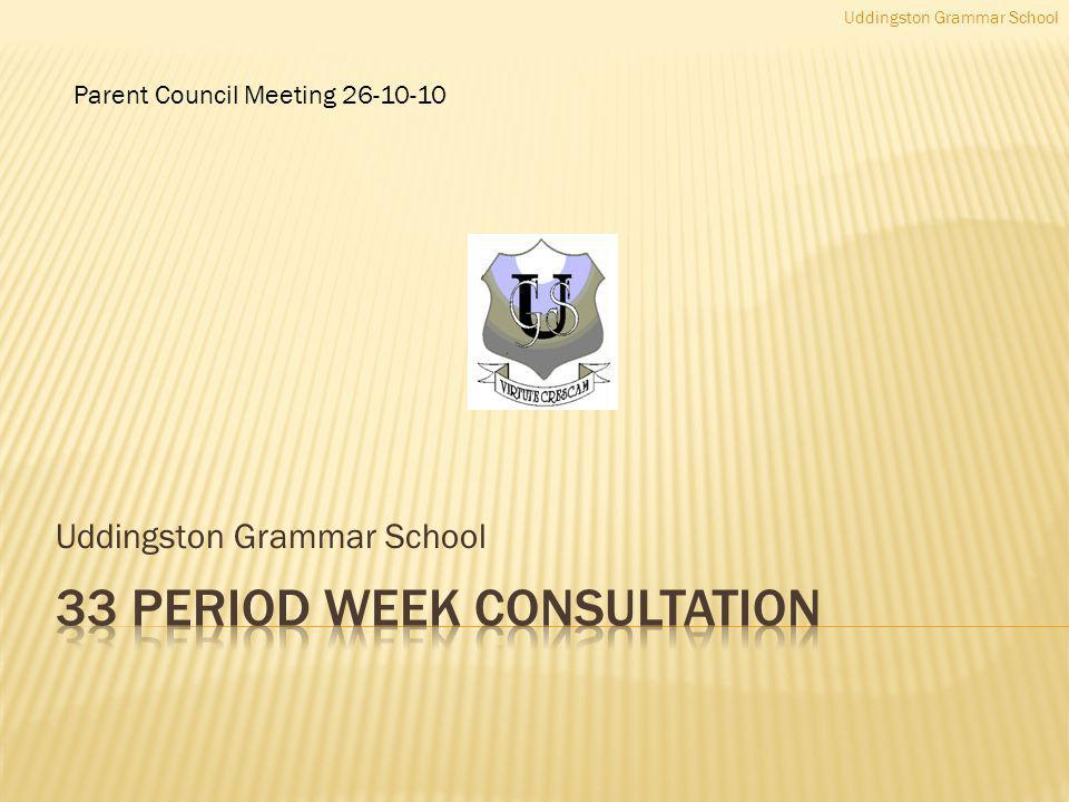 Uddingston Grammar School Parent Council Meeting 26-10-10