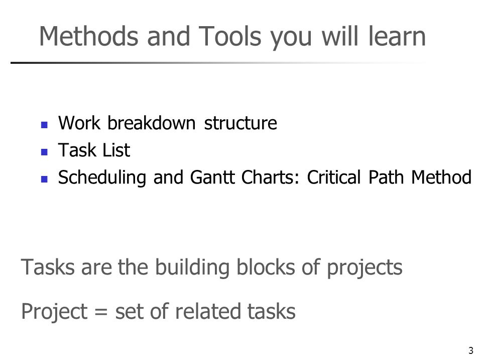 4 Work Breakdown Structure (WBS) Used to create the task (job) list Tree-decomposition of project tasks WBS identifies terminal elements The key starting point for project planning Required by contracts as part of the SOW Can be activity-oriented or deliverable- oriented Use sticky-notes method early on Carl L.