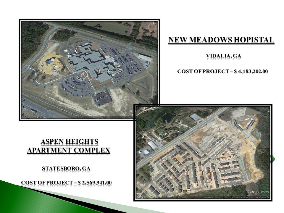 NEW MEADOWS HOPISTAL COST OF PROJECT = $ 4,183,202.00
