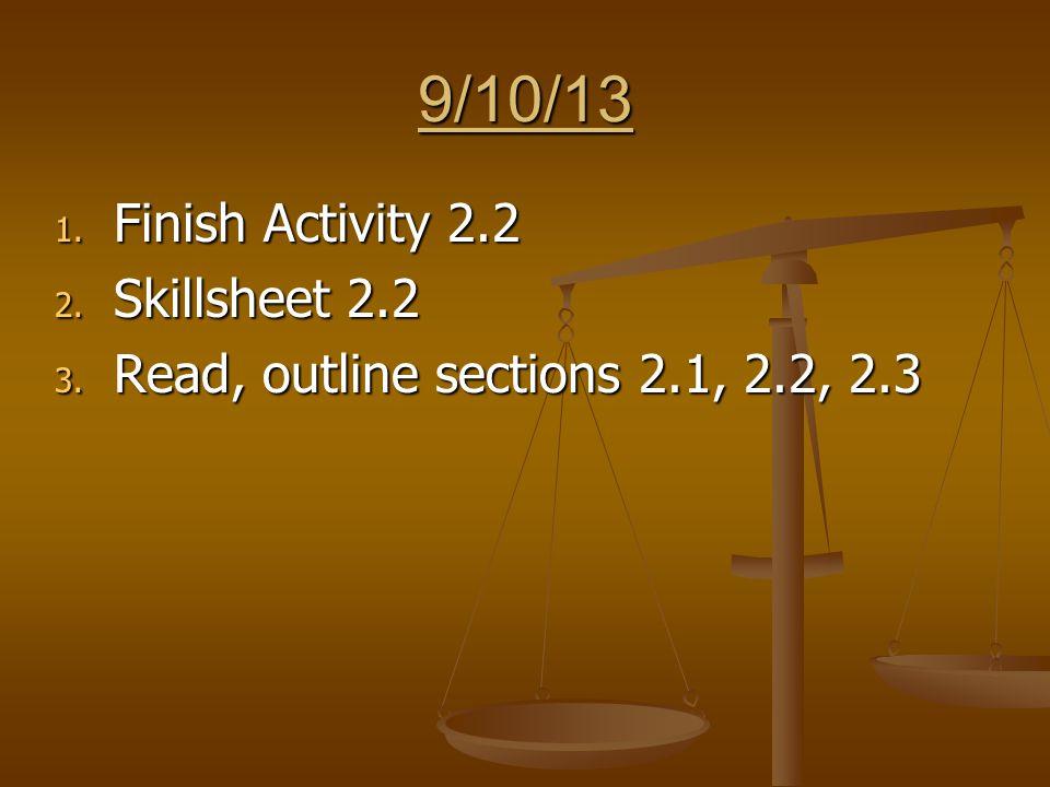 3/27/14 1.Collect Activity 10.3, discuss 2. Correct 10.3 Skillsheet 3.