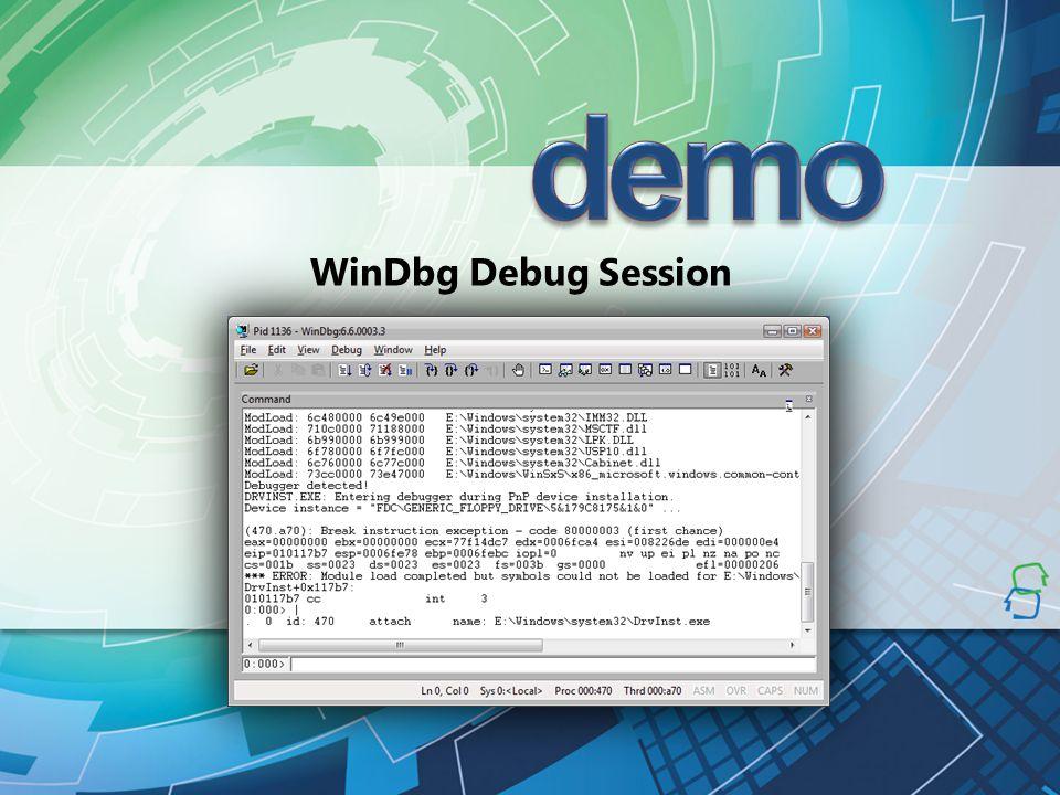 WinDbg Debug Session