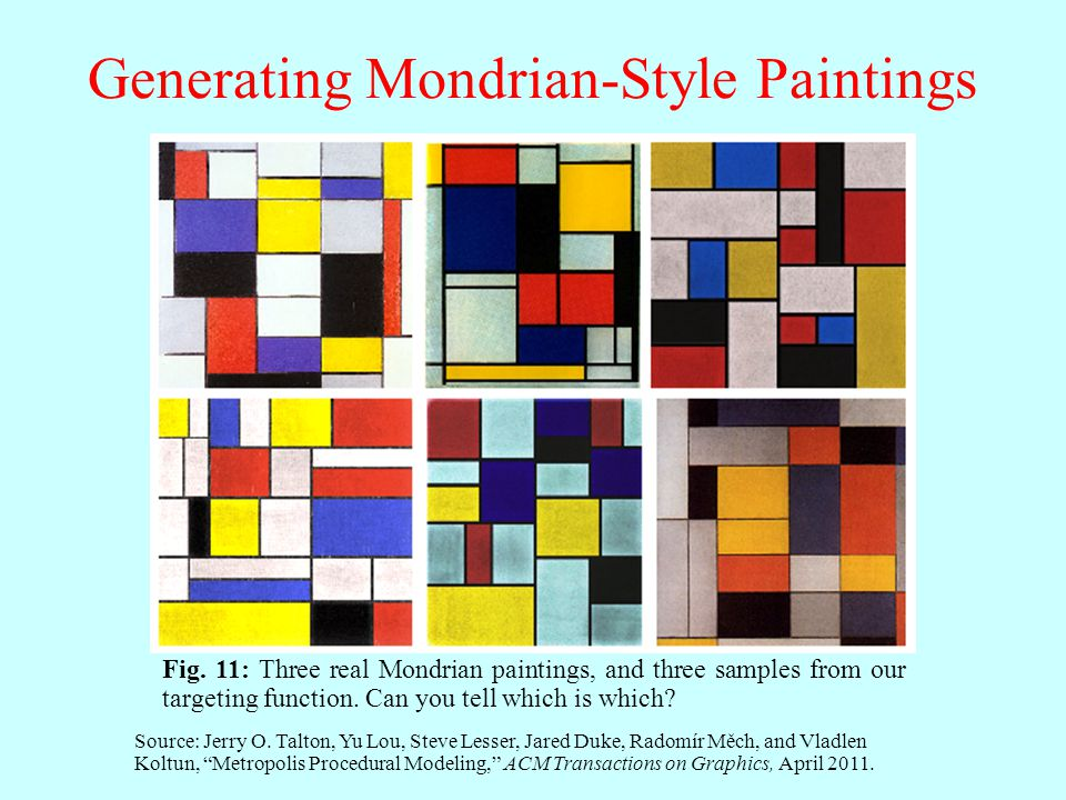 Generating Mondrian-Style Paintings Fig.
