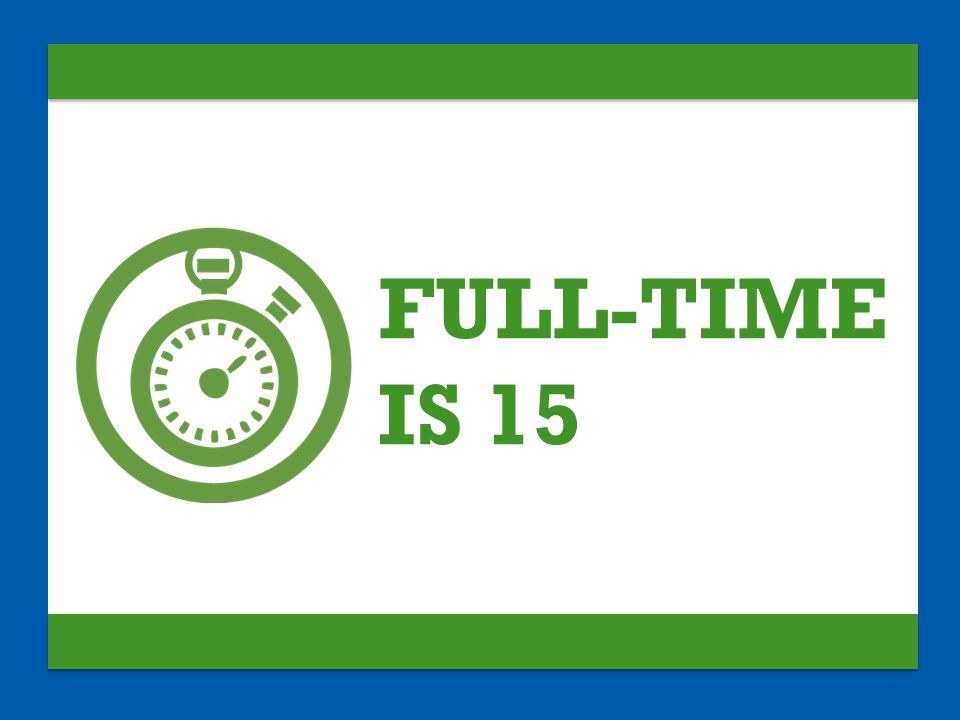 FULL-TIME IS 15