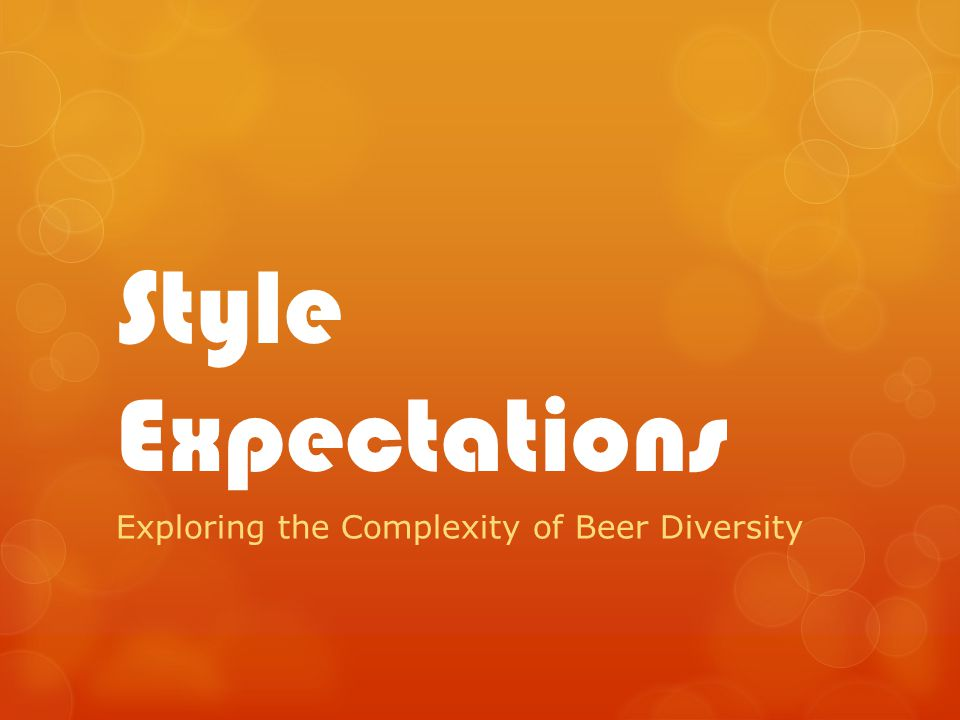Style Expectations Exploring the Complexity of Beer Diversity