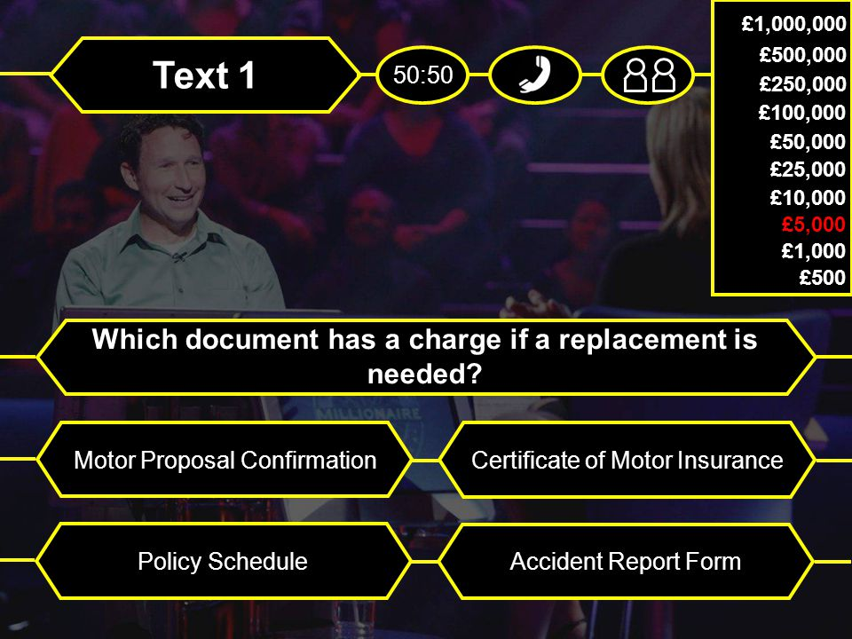 Text 1 Which document has a charge if a replacement is needed.