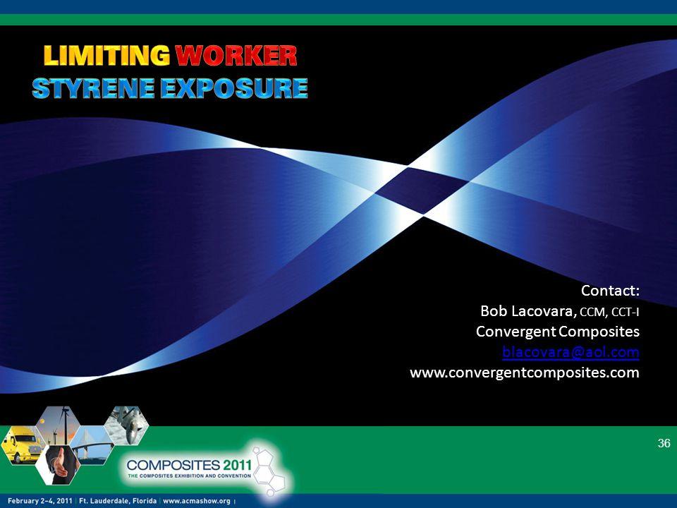 36 Contact: Bob Lacovara, CCM, CCT-I Convergent Composites blacovara@aol.com www.convergentcomposites.com