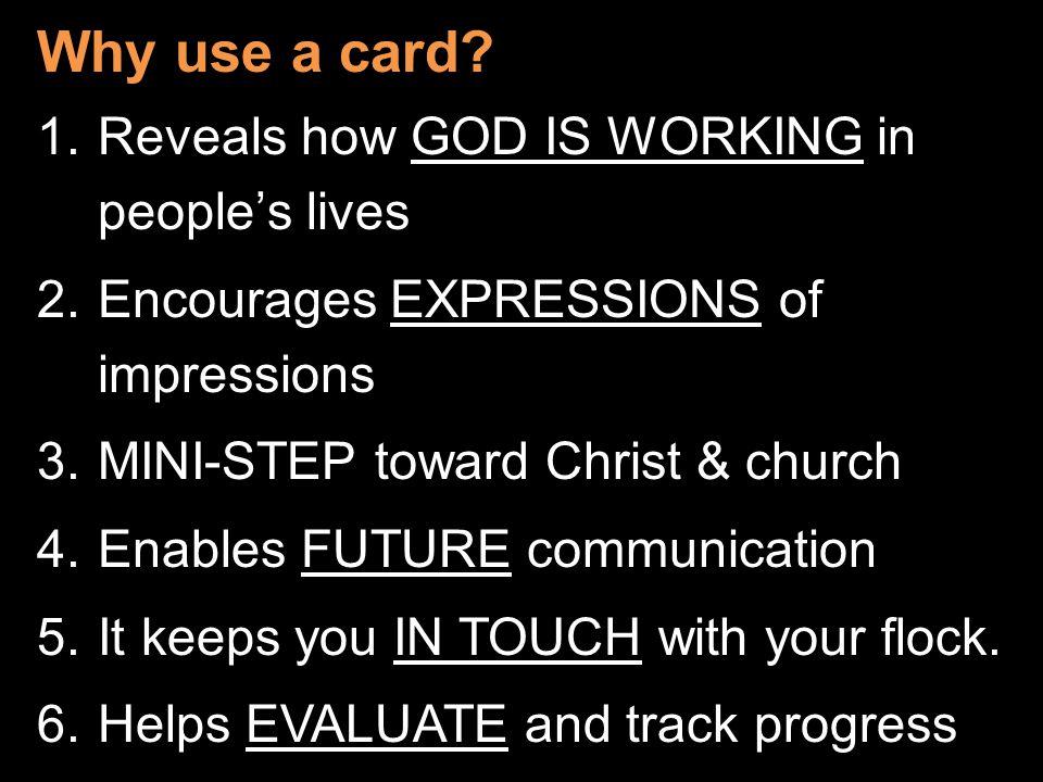 Why use a card.