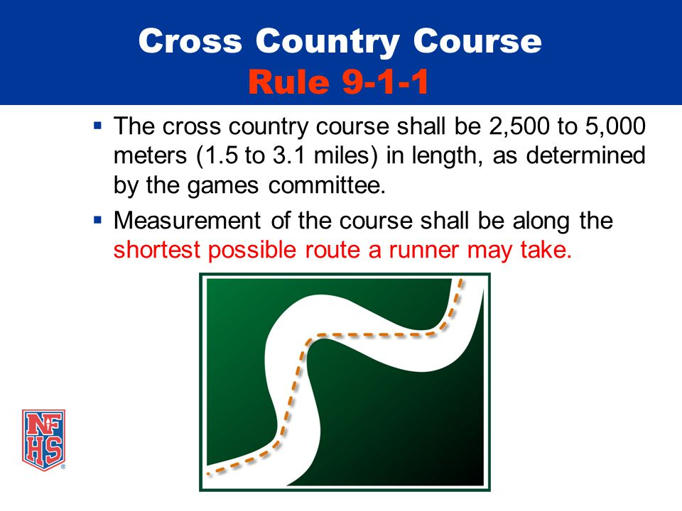Cross Country – Computerized Transponders and Chips Rules 9-3-3, 9-6-2 The finish of a cross country race may be recorded by computerized transponders/chips When used: A bib transponder or two computerized chips (one attached to each shoe) must be used for recording the finish The official order of finish for the runners is that recorded by the transponders/chips Competitors shall wear the assigned computerized transponders/chips unaltered for the purposes of official timing and place finish.