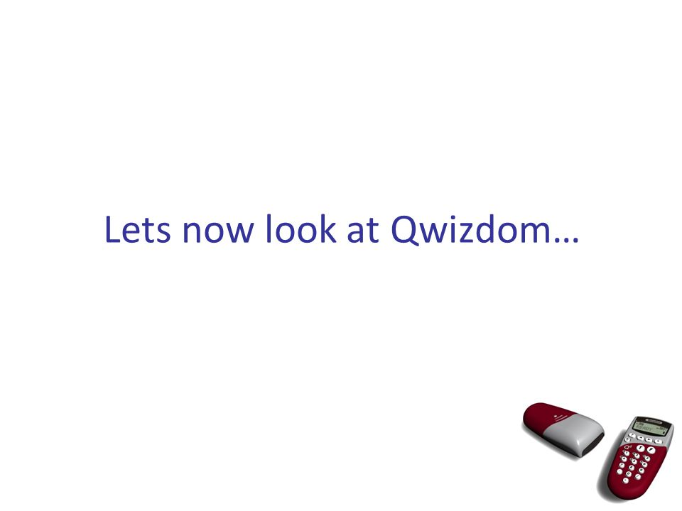 What do you think Qwizdom can be used for?