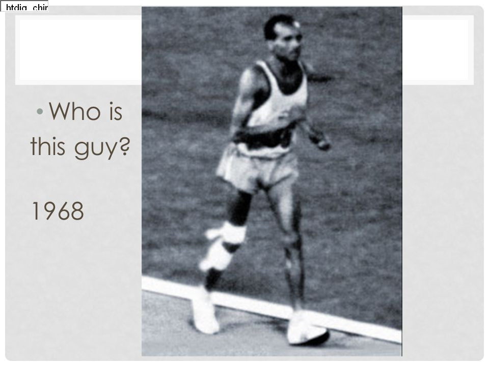 Who is this guy? 1968 The official website of the BEIJING 2008 Olympic Games - Games of the XXIX Olympiad 8-24 August 2008 NewsVenuesVenues M ar k et