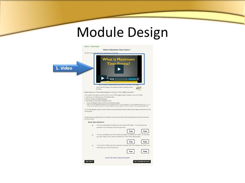 1. Video Module Design
