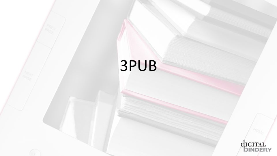 1.A basic introduction to epub and whats new in 3.0 2.Review of tools and files well be using 3.Dissection of an epub 2.0 file 4.Conversion of epub 2.0 to epub 3.0 (3pub to its friends) a)Overall structural changes b)New semantic information c)HTML5 d)Media overlays e)Text-to-speech tools f) and backwards compatibility g)CSS changes 5.Questions and (hopefully) answers!
