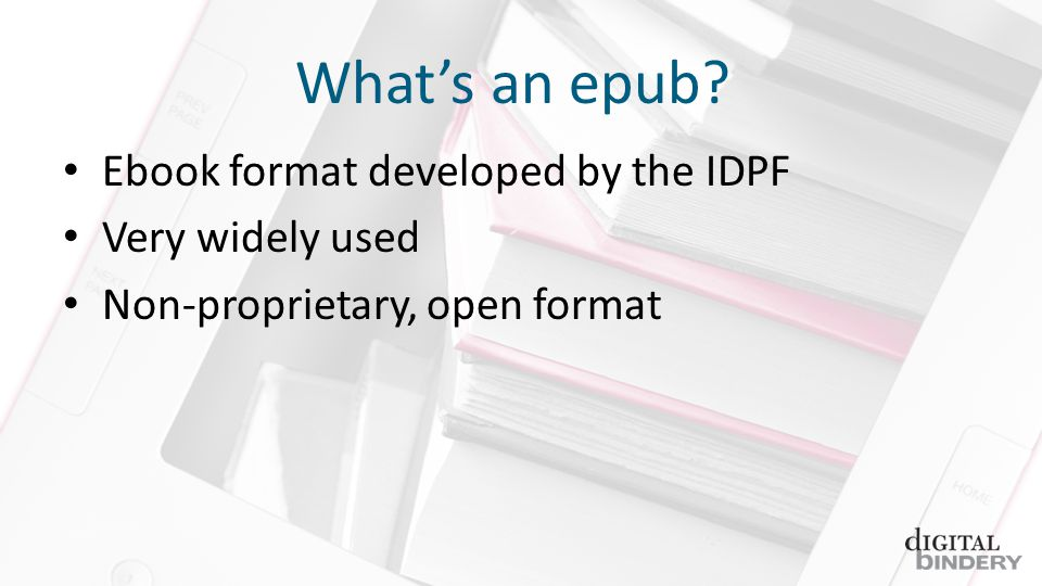 Epub 2.0.1 Dissection 1.A basic introduction to epub and whats new in 3.0 2.Review of tools and files well be using 3.Dissection of an epub 2.0 file 4.Conversion of epub 2.0 to epub 3.0 (3pub to its friends) a)Overall structural changes b)New semantic information c)HTML5 d)Media overlays e)Text-to-speech tools f) and backwards compatibility g)CSS changes 5.Questions and (hopefully) answers!