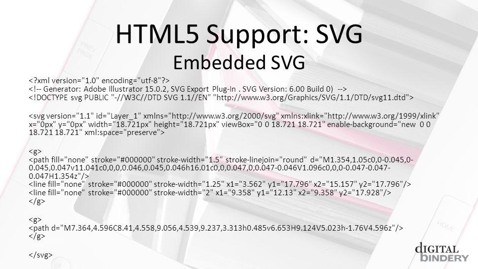 HTML5 Support: SVG Embedded SVG