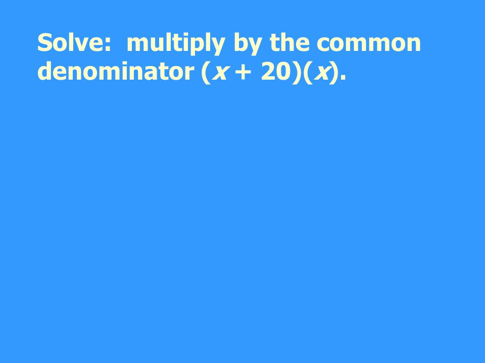 t = d/r Use the formula d = rt. Solve for t.