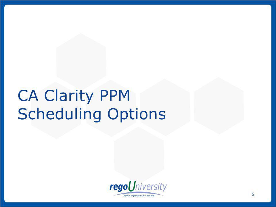 www.regoconsulting.comPhone: 1-888-813-0444 16 From the MSP Tools menu, select File > Options and refer to the following guidelines so MSP and CA Clarity PPM will work effectively together.
