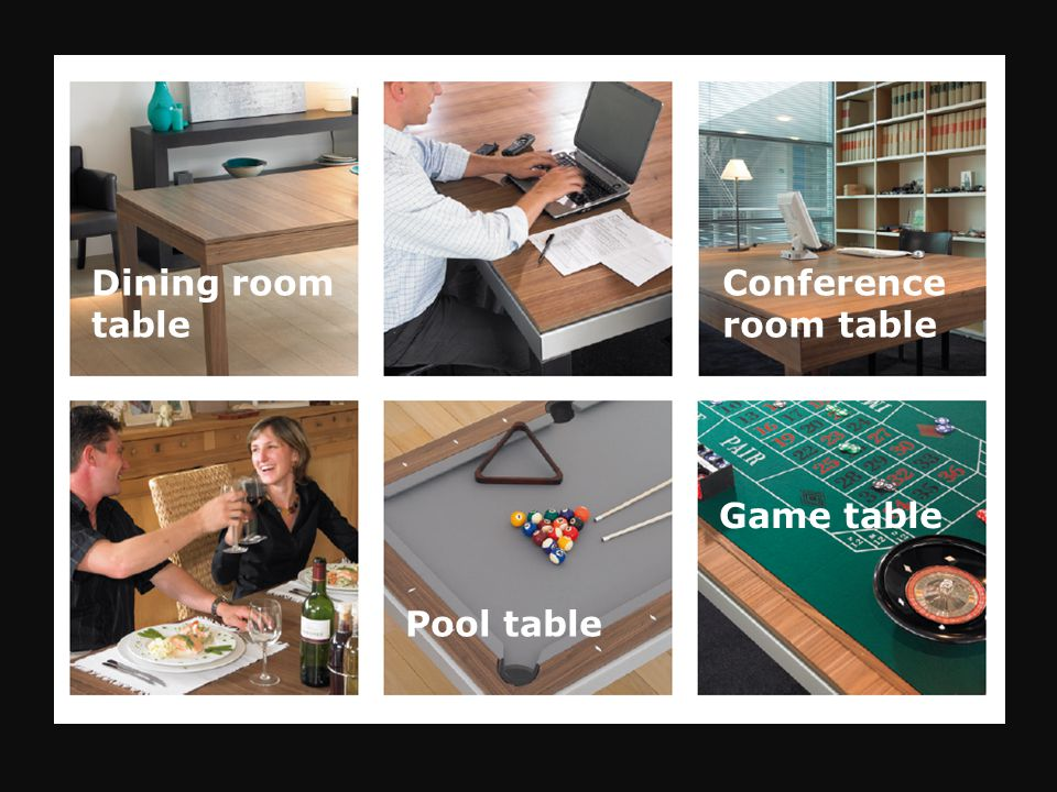 Dining room table Conference room table Pool table Game table