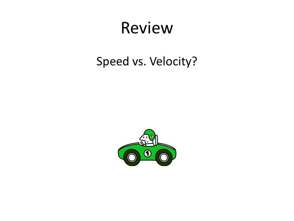 Review Speed vs. Velocity?