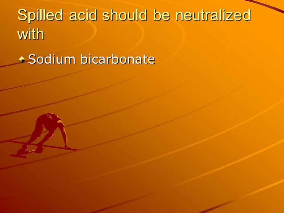 All lab floors, aisles and passageways should be kept clear of Lab equipment and chemicals (& NOTEBOOKS)