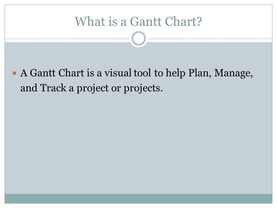What is a Gantt Chart.