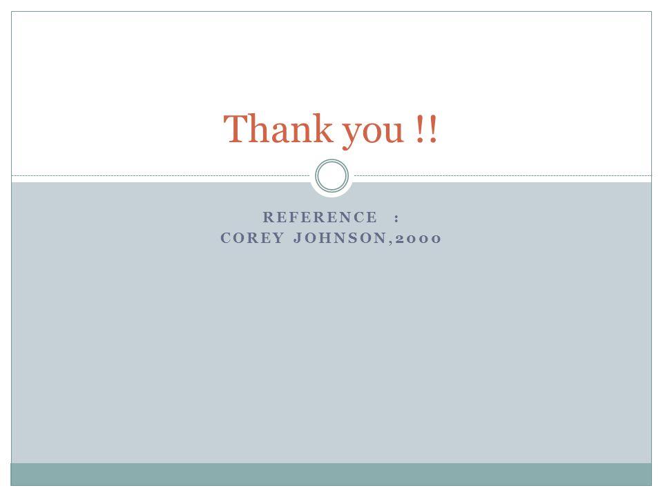 REFERENCE : COREY JOHNSON,2000 Thank you !!