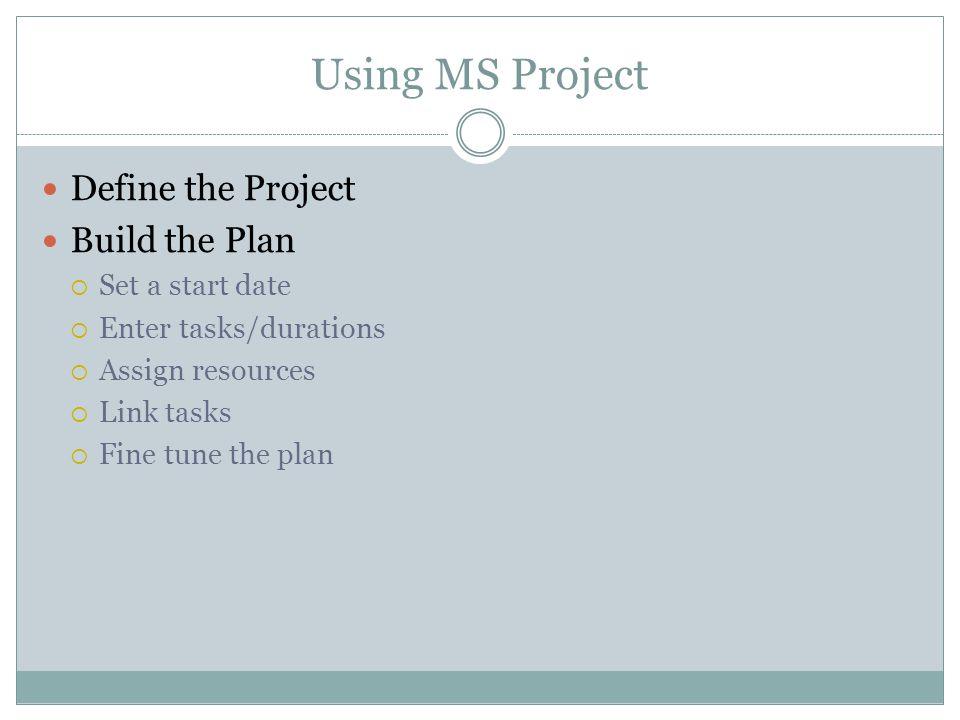 Set a Baseline To set a baseline: Point to Tracking on the Tools menu Click Save Baseline