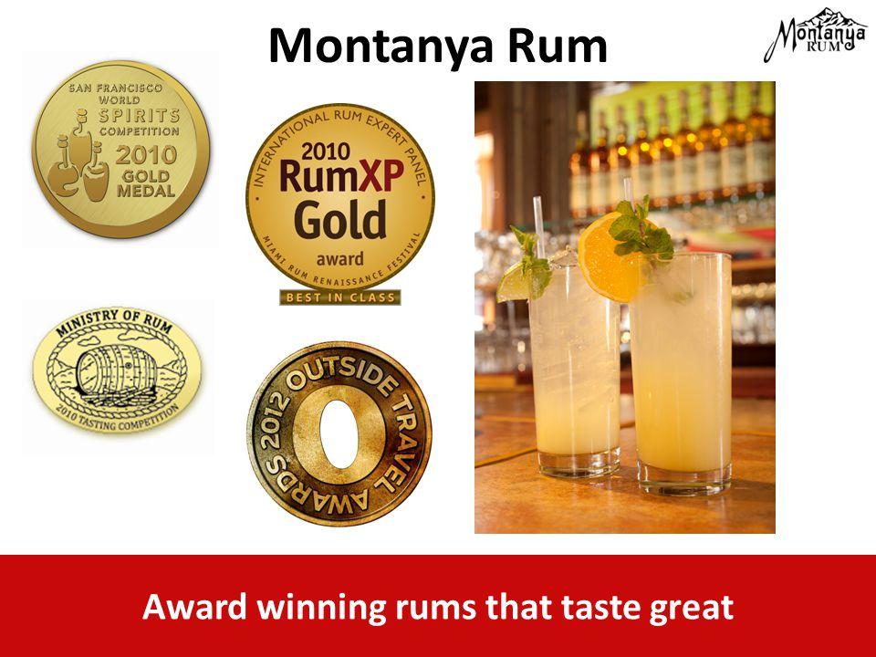 Award winning rums that taste great Montanya Rum