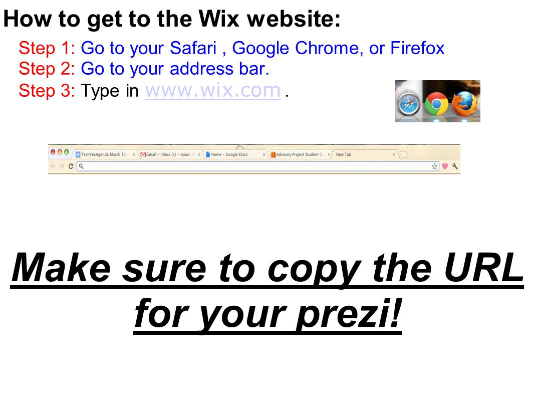 Step 1: Go to your Safari, Google Chrome, or Firefox Step 2: Go to your address bar.