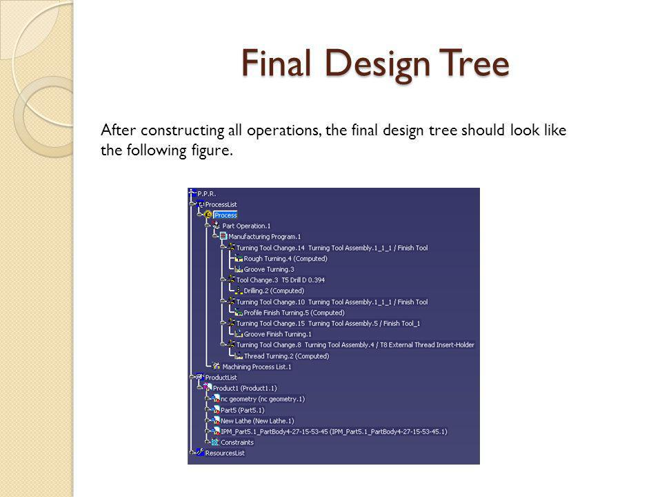 Final Design Tree After constructing all operations, the final design tree should look like the following figure.