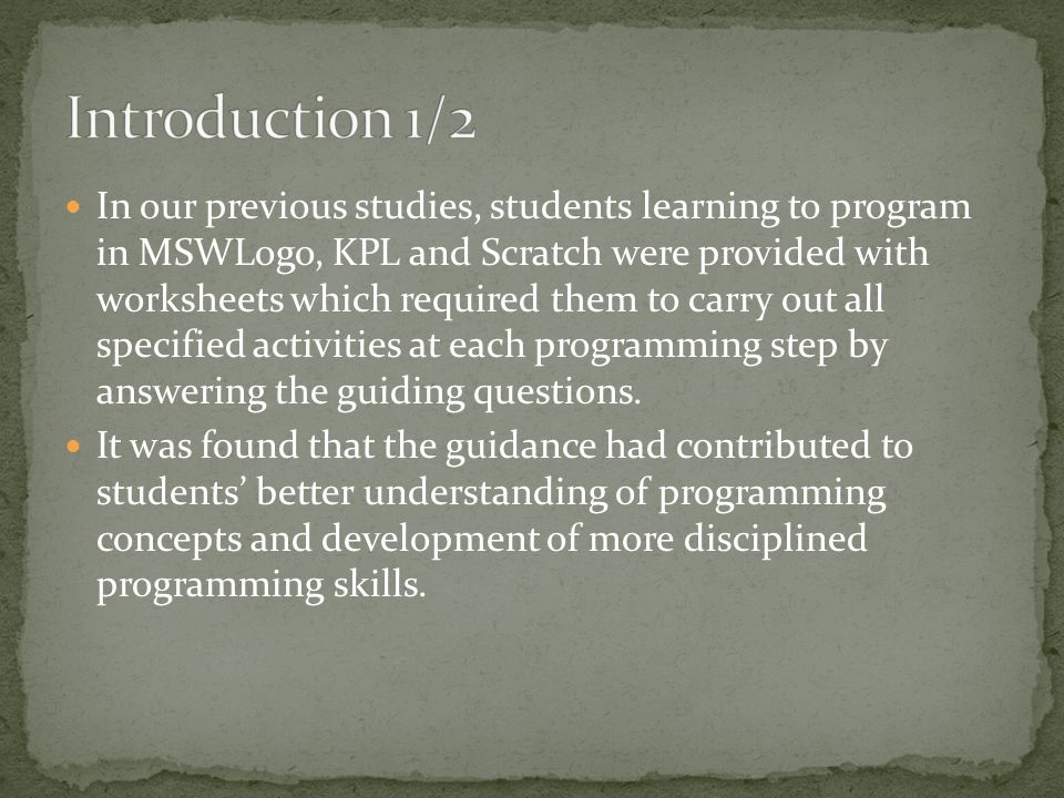 In light of these concerns, this article has three purposes: (a) to lead students step-by-step through the programming process of need, analysis, design, algorithm/coding and reflection to develop a project; (b) to bring adaptability and flexibility to programming instruction; (c) to become a viable replacement for commonly used programming textbooks or handouts;