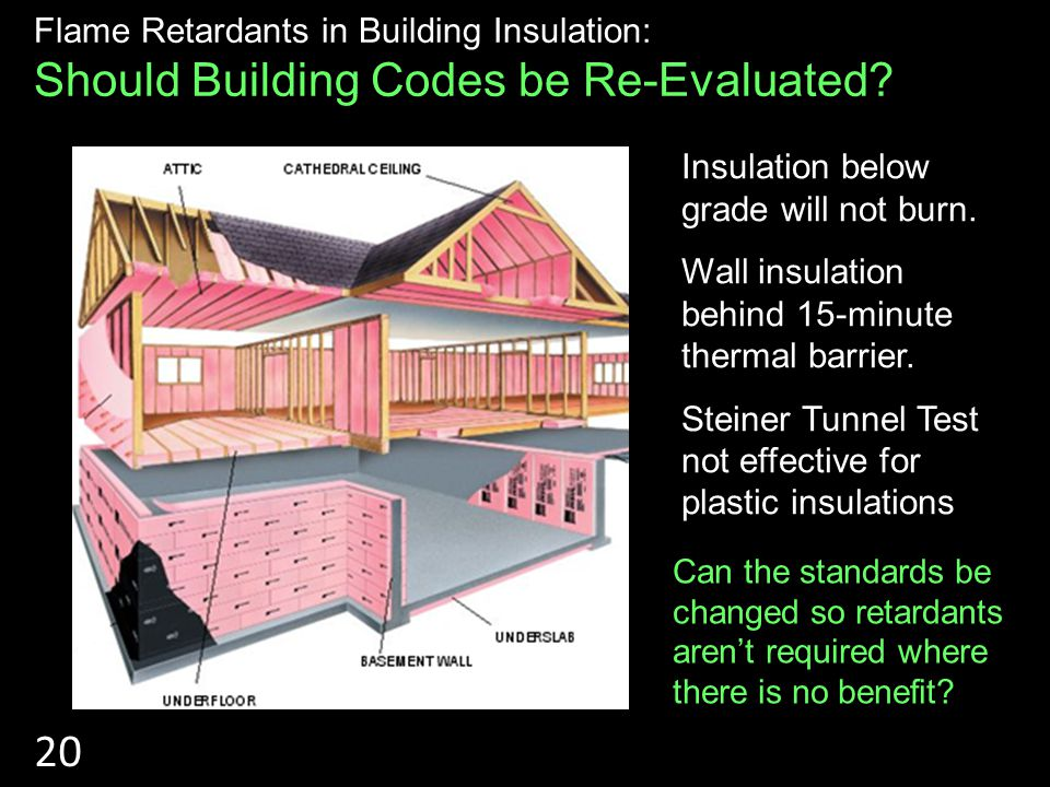 RIGID INSULATIONS Flame Retardants in Building Insulation: Should Building Codes be Re-Evaluated.