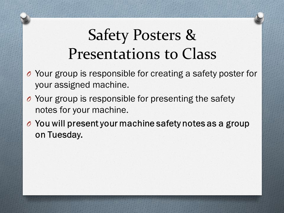 Safety All tests are online on Mrs.