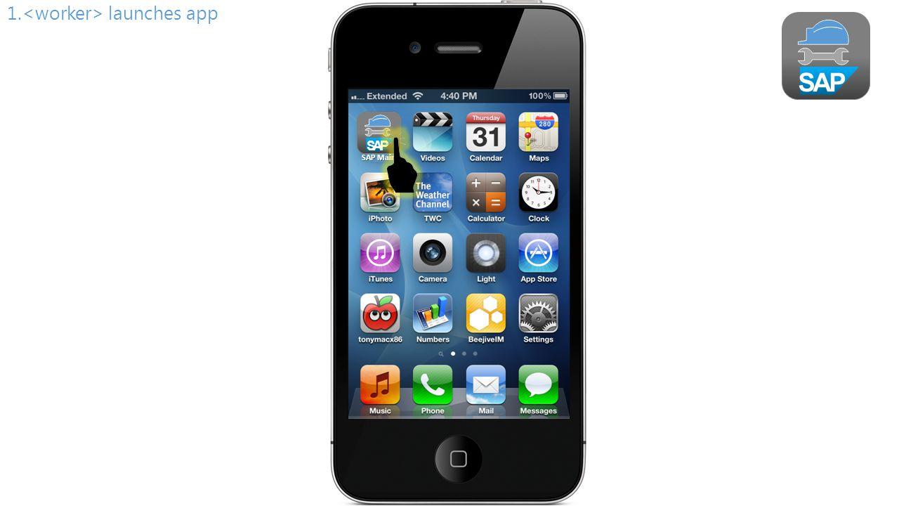 SAP 2. shows splash screen Plant Maintenance Mobile