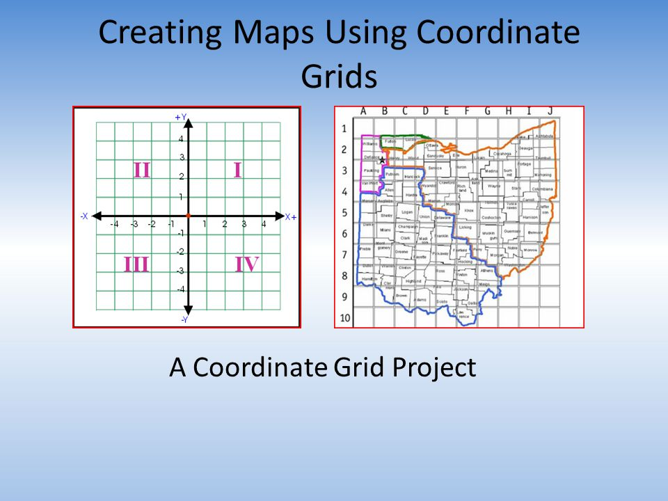Creating Maps Using Coordinate Grids A Coordinate Grid Project