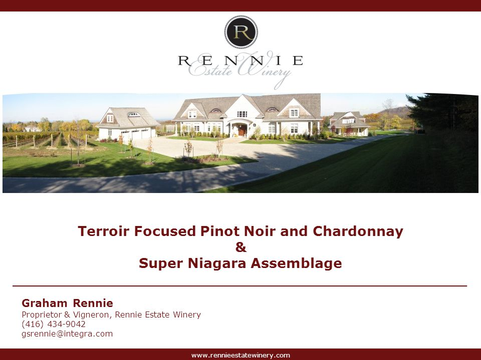 www.rennieestatewinery.com Heron Pond Benchland Vineyard Photographs Complexity, power and flavour concentration from unique terroir, sustainable viticulture and low yields.