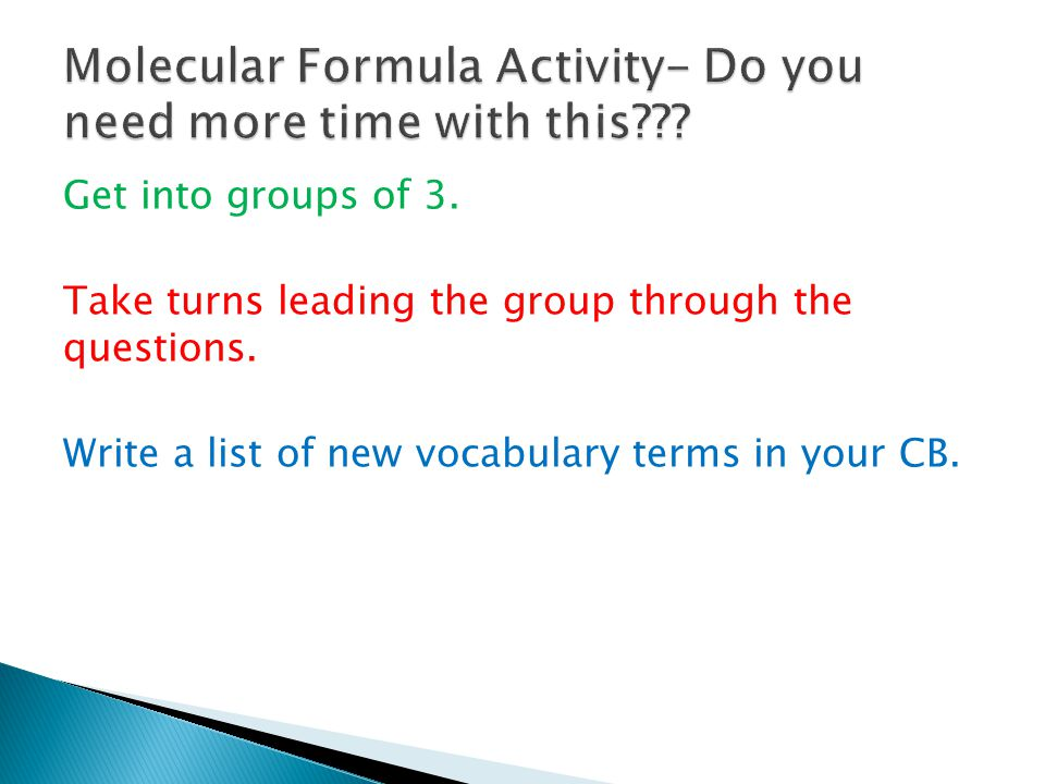 Take 15 minutes to finish the activity.