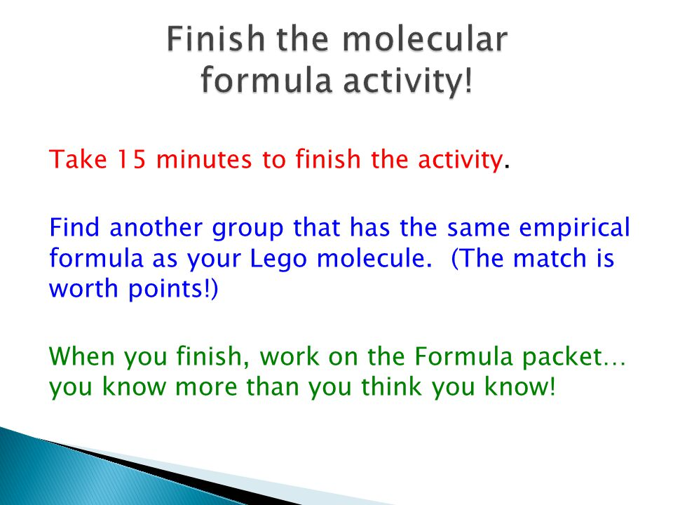 Purpose: To determine the molecular formula for the sample hydrate. CuSO 4 · __??_ H 2 O