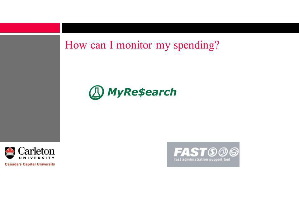 How can I monitor my spending