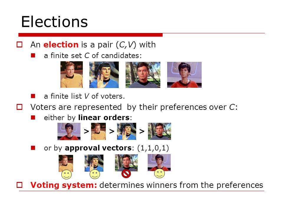 Voting Systems Level-based: Bucklin Voting (BV) v 1 : > > > v 2 : > > > v 3 : > > > v 4 : > > > v 5 : > > > 5 voters => strict majority threshold is 3 Lvl 11220 Lvl 22233