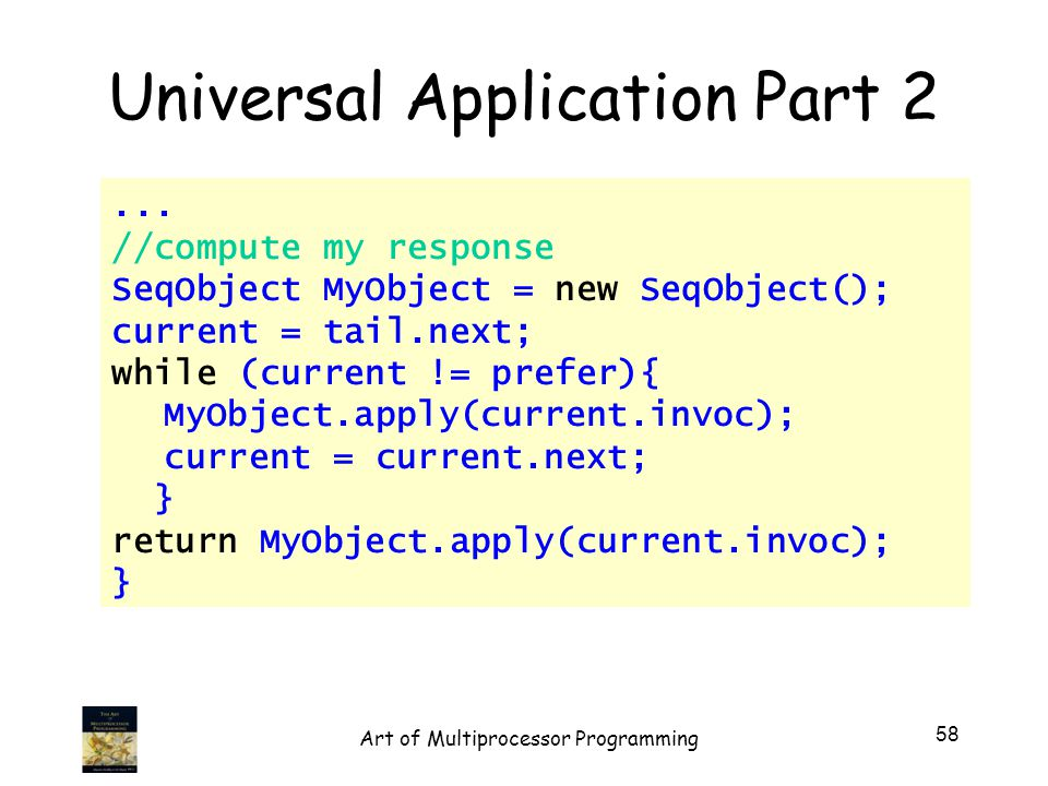 Universal Application Part 2...