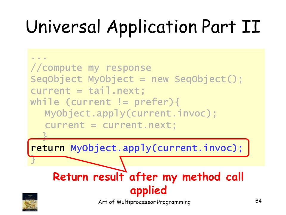 Universal Application Part II...