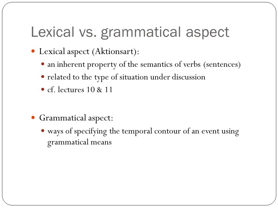 Lexical vs.