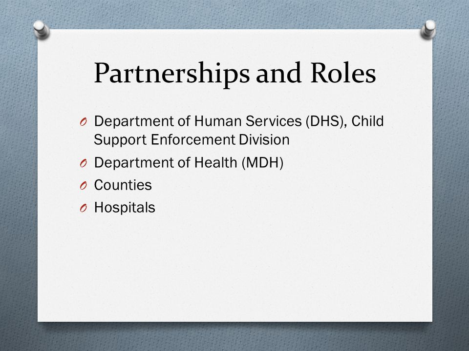 Role of Hospitals O Identify unmarried parents O Present ROP information to both parents O Provide an oral notice to parentsplay the video or read the form O Assure form is completed properly O Provide a notary public