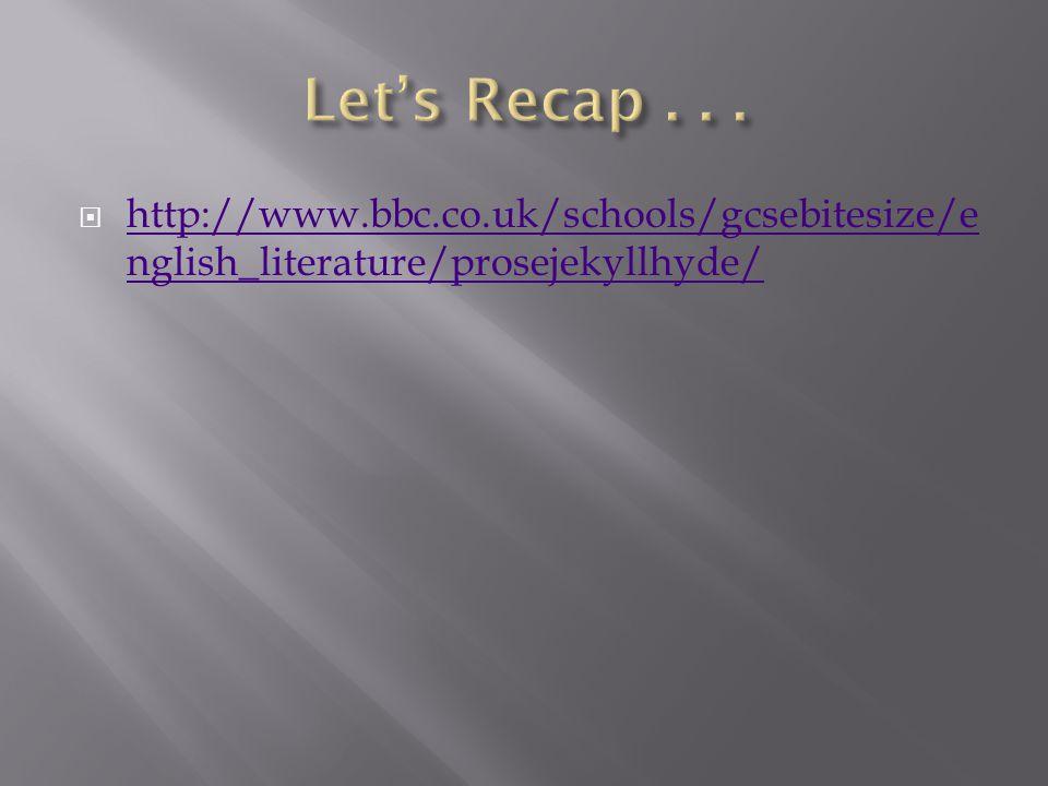 http://www.bbc.co.uk/schools/gcsebitesize/e nglish_literature/prosejekyllhyde/ http://www.bbc.co.uk/schools/gcsebitesize/e nglish_literature/prosejekyllhyde/