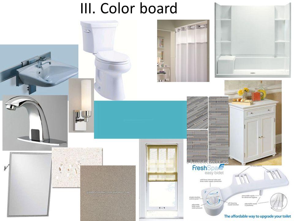 III. Color board