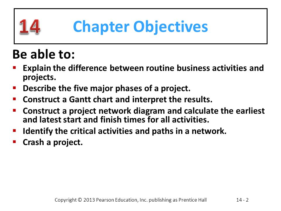 Copyright © 2013 Pearson Education, Inc. publishing as Prentice Hall14 - 2 Chapter Objectives Be able to: Explain the difference between routine busin
